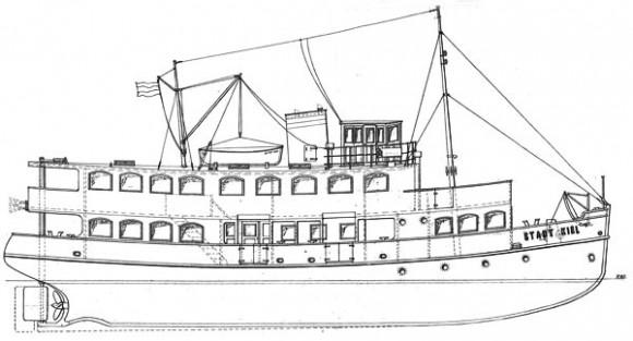 MS Stadt Kiel - Technische Zeichnung